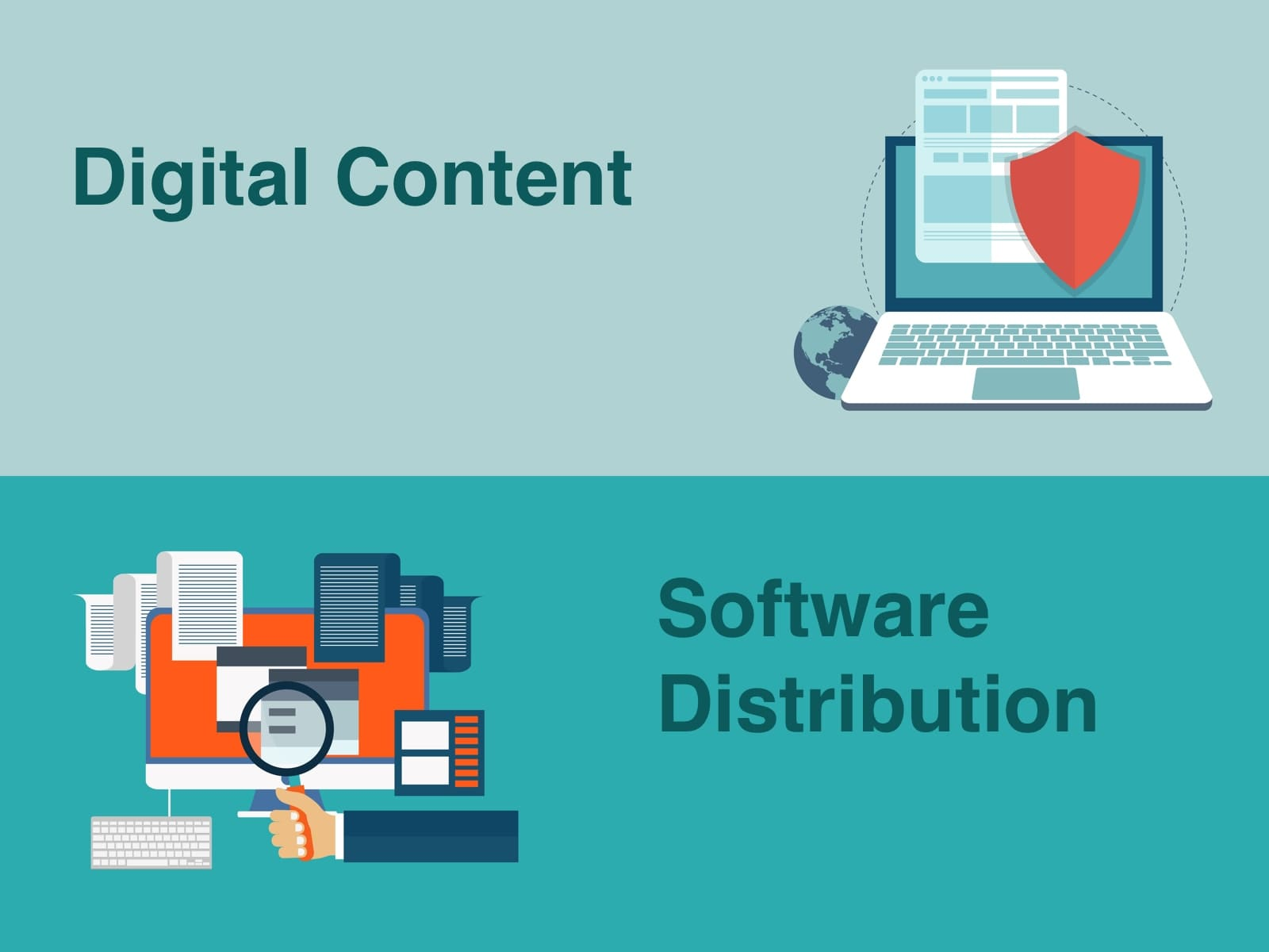 DIGITAL CONTENT & SOFTWARE DISTRIBUTION and LICENSING