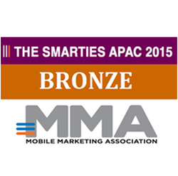 Bronze medal (together with Mindshare) of the MMA Smarties competition 2014